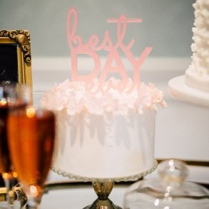 Best Day Ever Acrylic Cake Topper (3 Colors) image