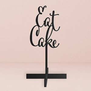 Eat Cake Acrylic Sign - White or Black image