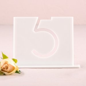 Top Aligned Style White Acrylic Table Number image