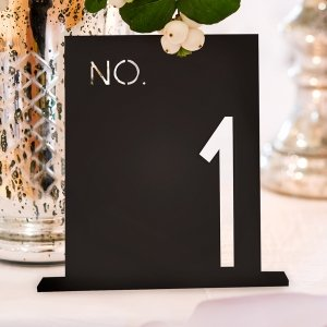 Block Style Black Acrylic Table Number image