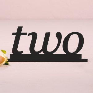 Word Style Black Acrylic Table Number image