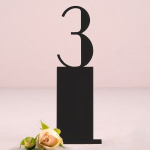 Pedestal Style Black Acrylic Table Number image
