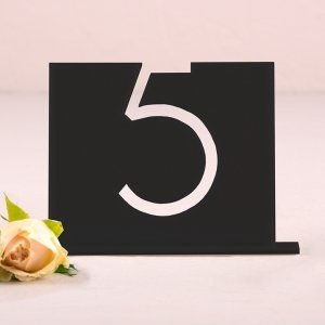 Top Aligned Style Black Acrylic Table Number image