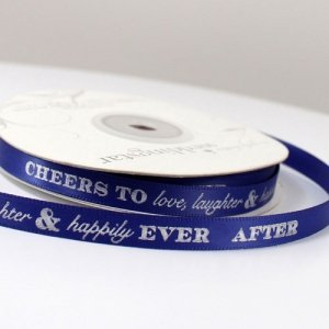 Cheers to Love - Laughter and Happily Ever After Ribbon image