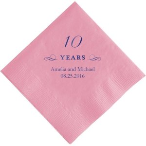 10 Years Personalized Napkins image