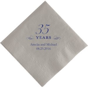 35 Years Printed Napkins image