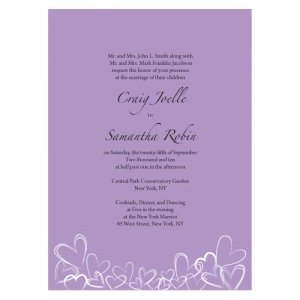 Contemporary Hearts Stationery Sample (15 Colors) image