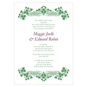 Luck of the Irish Stationery Sample (5 Colors) image