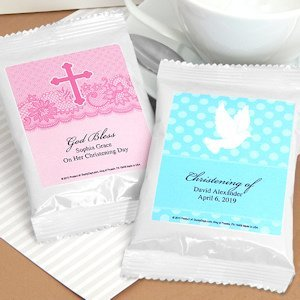 White Personalized Coffee Communion Party Favors image