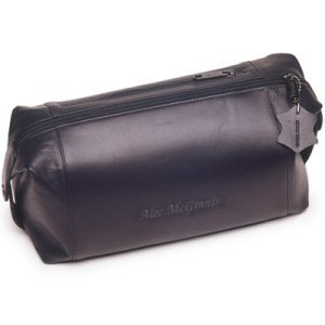 Mens Personalized Leather Toiletry Bag image