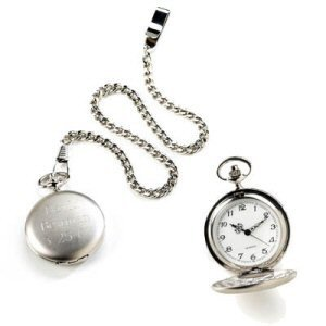 Engraved Silver Pocket Watch image