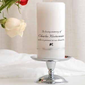Memory Candles for Weddings (includes stand) image