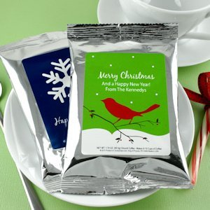 Silver Holiday Coffee Favors (24 Designs) image