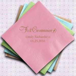 Personalized First Communion Paper Napkins (Set of 100) image