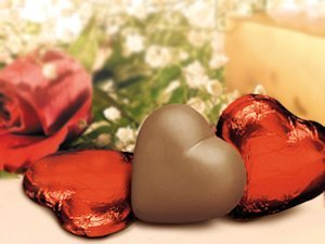 Chocolate Hearts in Red Foil (Case of 50) image