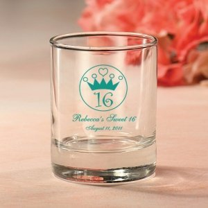 Personalized Sweet 16 Votive Candle Holder image
