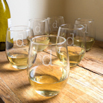 Personalized Stemless Wine Glasses (Set of 6)
