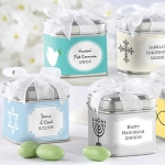 Square Favor Tins for Baptisms (Set of 12)