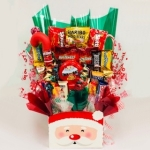 Jolly Santa Christmas Candy Bouquet