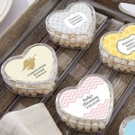 Heart Shaped Baptism Favor Boxes (Set of 12)