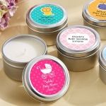 Round Baby Shower Candle Tin Favors
