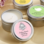 Baptism Themed Candle Tin Favors