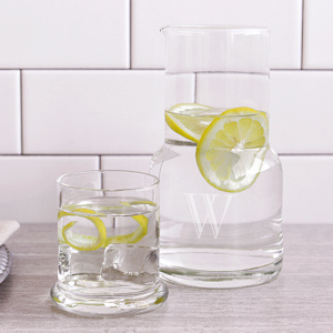 Personalized Bedside Water Carafe and Glass Set imagerjs