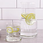 Personalized Bedside Water Carafe and Glass Set