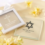 Personalized Glass Religious Coaster Favors (Set of 12)