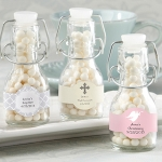 Swing-Top Glass Baptism Favor Bottles (Set of 12)