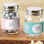 Baptism Mason Favor Jars (Set of 12)