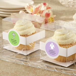 Personalized Baptism Cupcake Favor Boxes (Set of 12) imagerjs