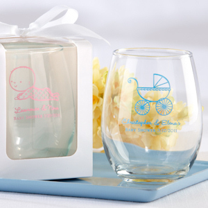 Personalized Stemless Baby Shower Wine Glasses (9 oz) imagerjs