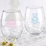 Custom Stemless Baby Wine Glass Favors (15 oz)