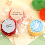 Personalized Fruit Life Savers Baptism Candy Favors