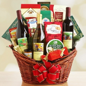 Happy Holiday Wine and Gourmet Food Gift imagerjs