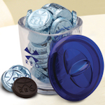 Custom Imprinted Large Jar with Chocolate Coins