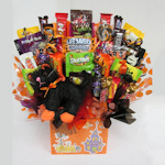 Scaredy Cat Halloween Candy Bouquet