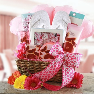 Pink Passion Deluxe Spa Basket imagerjs