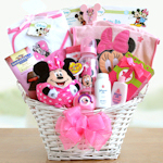 Minnie Mouse Baby Girl Basket