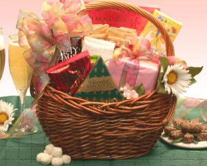 Mother's Day Treats Gift Basket data-pin-no-hover=
