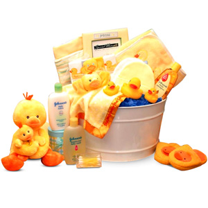 bath time baby gift tub all about gifts baskets. Black Bedroom Furniture Sets. Home Design Ideas