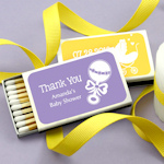 Personalized Baby Shower Matchbox Favors (Set of 50)