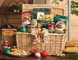 Italian Delights Pasta Gift Basket data-pin-no-hover=