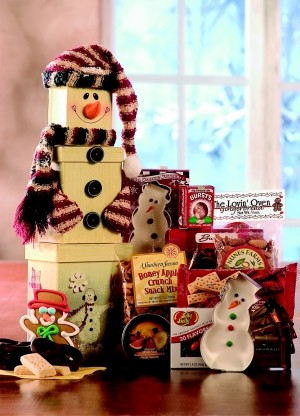 Snowman Gift Tower image