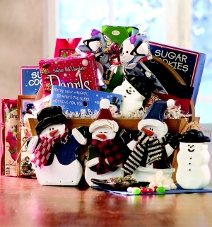 Snowman Gift Basket data-pin-no-hover=