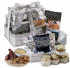 Silver & Black Gourmet Gift Tower image