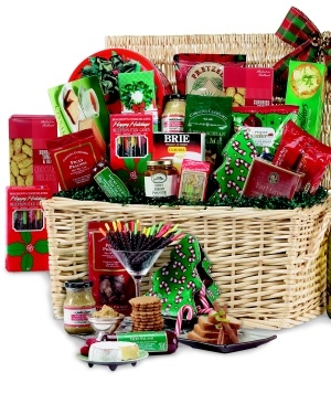 Deluxe Holiday Gift Basket data-pin-no-hover=