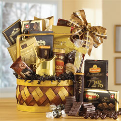 Extra Dark Chocolate Gift Basket data-pin-no-hover=
