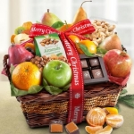 Merry Christmas Fruit Basket of Orchard Delights